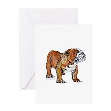 Bulldog by Cherry ONeill Greeting Card