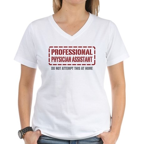 Professional Physician Assistant Women's V-Neck T-