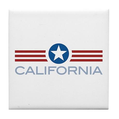 Star Stripes California Tile Coaster