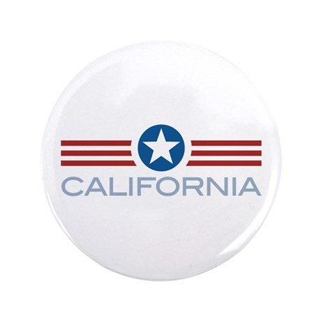 "Star Stripes California 3.5"" Button"