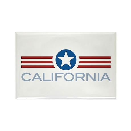 Star Stripes California Rectangle Magnet