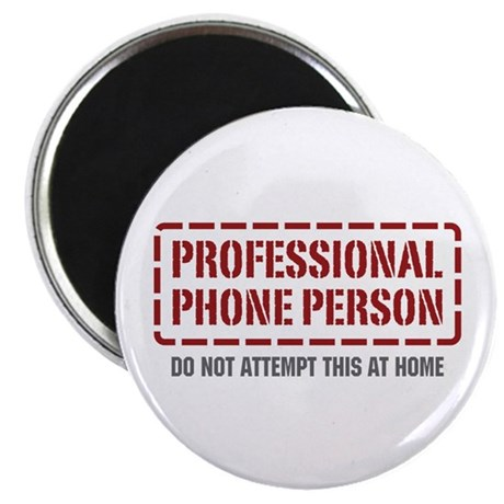 "Professional Phone Person 2.25"" Magnet (10 pack)"