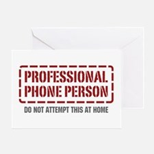 Professional Phone Person Greeting Card
