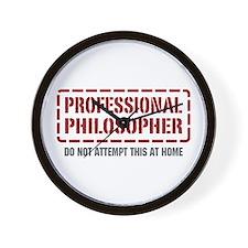 Professional Philosopher Wall Clock