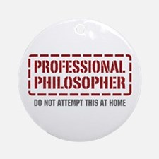 Professional Philosopher Ornament (Round)