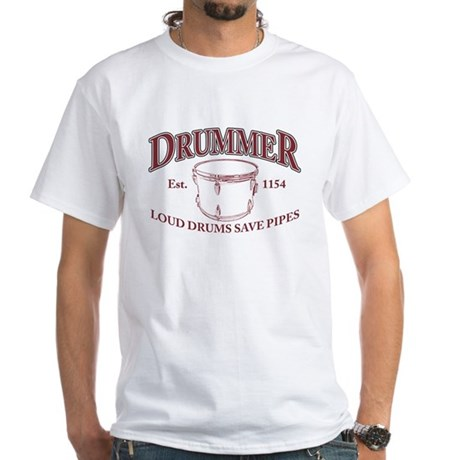Drummer White T-Shirt