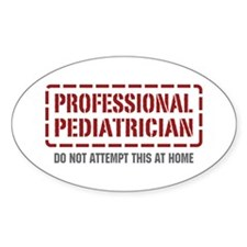 Professional Pediatrician Oval Decal