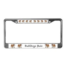Bulldog by Cherry ONeill License Plate Frame