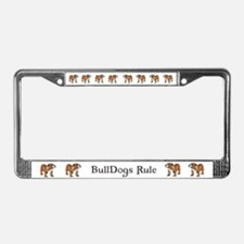 Bulldog by Cherry ONeill License Plate Frame