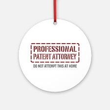 Professional Patent Attorney Ornament (Round)