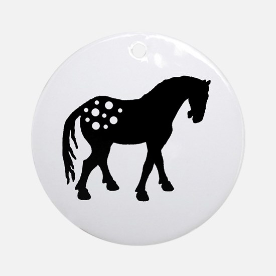Cute Appaloosa Ornament (Round)
