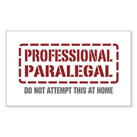Professional Paralegal Rectangle Sticker