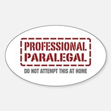 Professional Paralegal Oval Decal