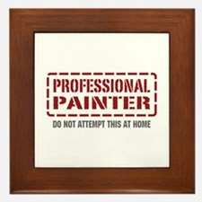 Professional Painter Framed Tile