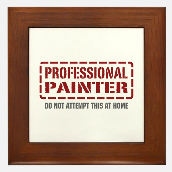 Professional Painter Framed Tile