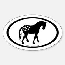 Cute Appy Oval Oval Decal