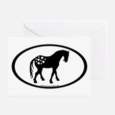 Cute Appy Oval Greeting Card