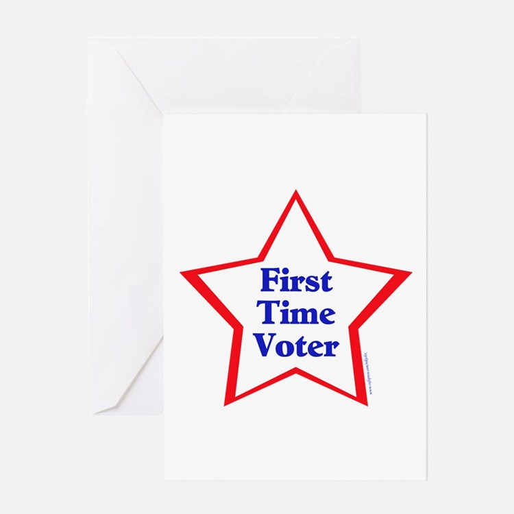 First Time Voter Star Greeting Card