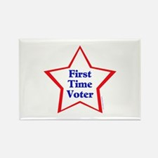 First Time Voter Star Rectangle Magnet