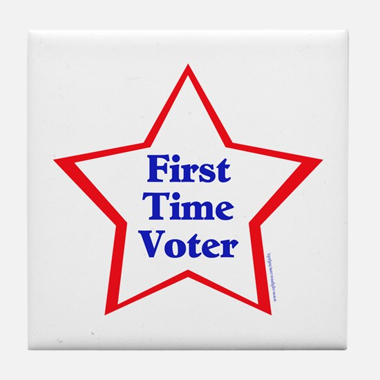 First Time Voter Star Tile Coaster