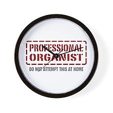 Professional Organist Wall Clock
