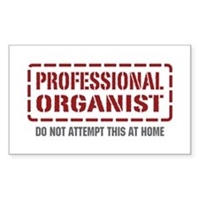 Professional Organist Rectangle Decal