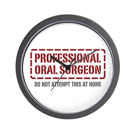 Professional Oral Surgeon Wall Clock