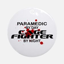 Paramedic Cage Fighter by Night Ornament (Round)