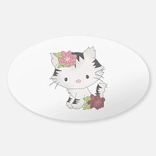Cat Cuteness Sticker (Oval)