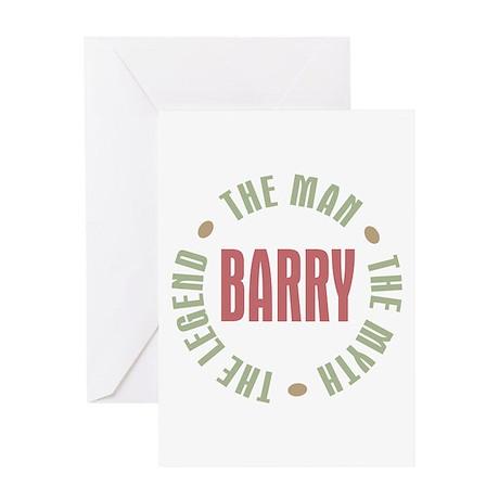 Barry Man Myth Legend Greeting Card