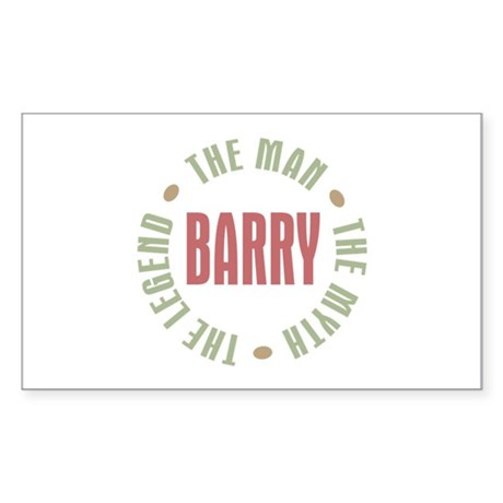 Barry Man Myth Legend Rectangle Sticker
