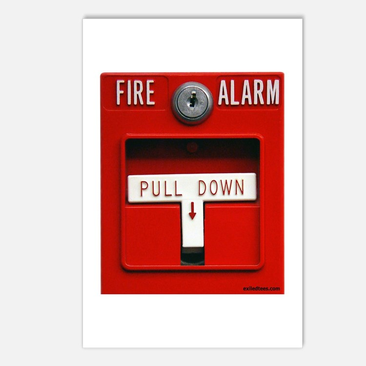 FIRE ALARM Postcards (Package of 8)
