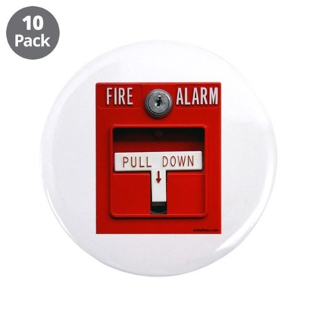 """FIRE ALARM 3.5"""" Button (10 pack)"""