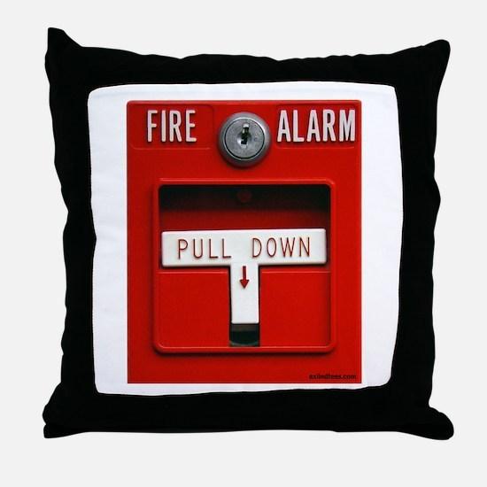 FIRE ALARM Throw Pillow
