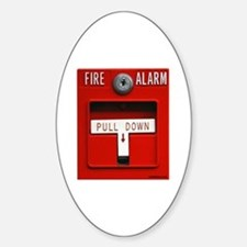 FIRE ALARM Oval Decal