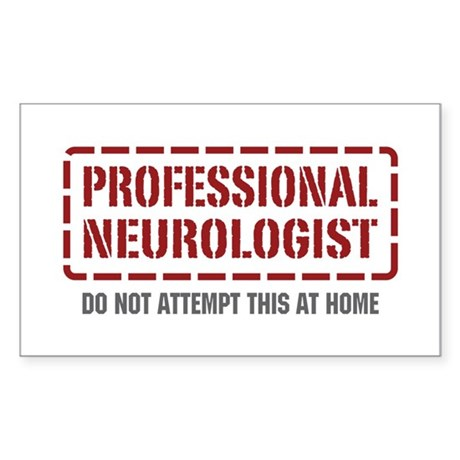 Professional Neurologist Rectangle Sticker