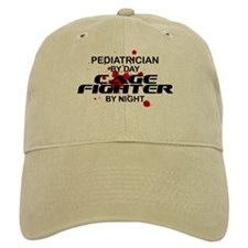 Pediatrcian Cage Fighter by Night Baseball Cap