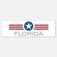 Star Stripes Florida Bumper Bumper Bumper Sticker