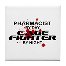 Pharmacist Cage Fighter by Night Tile Coaster