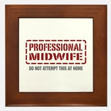 Professional Midwife Framed Tile