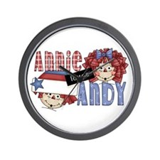 Annie Loves Andy Wall Clock