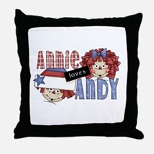 Annie Loves Andy Throw Pillow