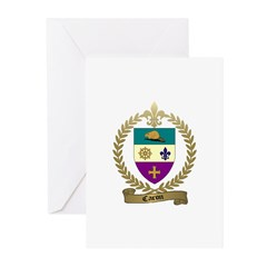 CARON Family Crest Greeting Cards (Pk of 10)
