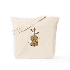 Rose Violin Tote Bag