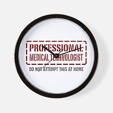 Professional Medical Technologist Wall Clock