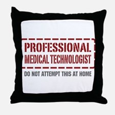 Professional Medical Technologist Throw Pillow