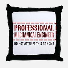 Professional Mechanical Engineer Throw Pillow