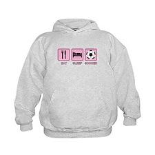 EAT SLEEP SOCCER (pink) Hoodie