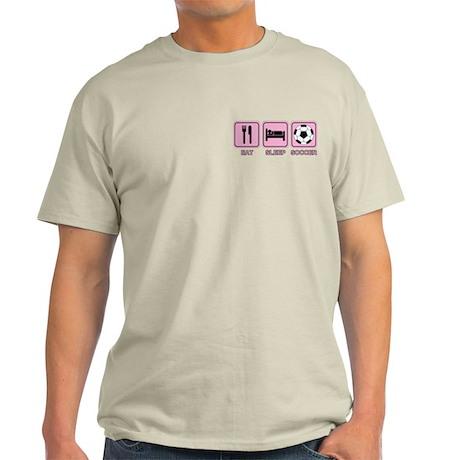 EAT SLEEP SOCCER (pink) Light T-Shirt
