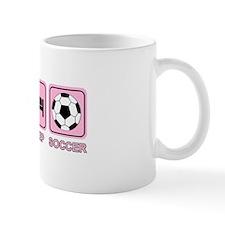EAT SLEEP SOCCER (pink) Mug